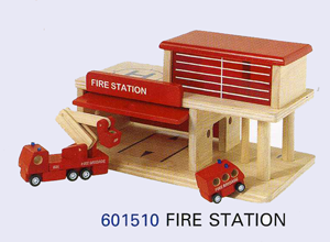 Fire Station Plan Toys Wooden