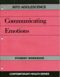 Into Adolescence:Communicating Emotions: Teachers Guide with Workbook