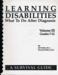 Learning Disabilities:What To Do..After Diagnosis  Vol III