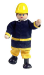 Fireman-Posable Doll