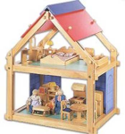 Wooden Dollhouse-Small