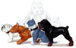 Hood Hounds-Set of 4