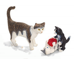 Schleich Cat and Kittens with Yarn-2 pc