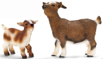 Schleich Dwarf Goat with Kid-2 pc