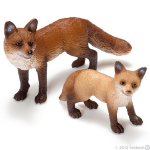 Schleich Red Fox and Kit