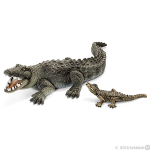 Schleich Crocodile with Baby