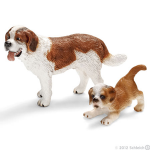 Schleich St Bernard Male and Puppy-2 pc