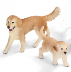 Schleich Golden Retriever Mom and Puppy-2 pc