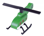 Wooden Helicopter (Green)
