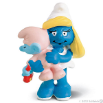 Schleich Smurf Mother and Baby