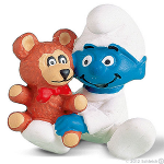 Schleich Smurf Baby with Teddy