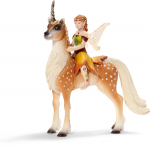 Schleich Female Elf on Forest Unicorn