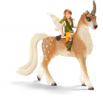 Schleich Male Elf on Forest Unicorn