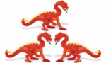 Safari Mini Red Dragon 3 pack